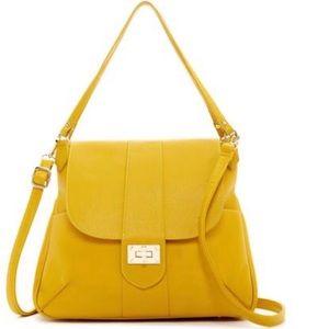 Boutique Pink Haley NEW Mustard Shoulder Bag Tote